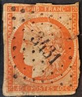 FRANCE 1850 - Canceled - YT 5b Orange Foncé - 40c - 2me Choix! - 1849-1850 Ceres