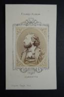 Photographie Ancienne FIGARO-ALBUM.    Portrait  Par  Carjat.    GAMBETTA - Oud (voor 1900)