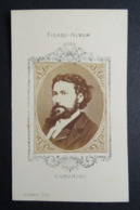 Photographie Ancienne FIGARO-ALBUM.  Format CDV.    Portrait  Par LIEBERT.  GABORIAU.  Ecrivain. Père Du Roman Policier - Ancianas (antes De 1900)