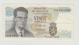 Used Banknote Belgie-belgique 20 Frank 1964 - [ 2] 1831-... : Reino De Bélgica