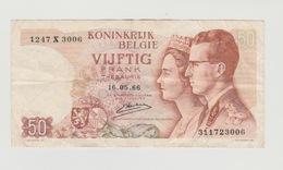 Used Banknote Belgie-belgique 50 Frank 1966 - [ 2] 1831-... : Reino De Bélgica