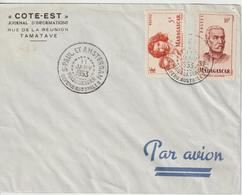 Lettre 1953 Non Voyagée Oblit. St Paul Et Amsterdam Madagascar Sur Timbres Malgaches Avec Entete Journal COTE EST - Terres Australes Et Antarctiques Françaises (TAAF)