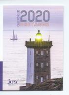 CALENDRIER DE POCHE 2 VOLETS ANNÉE 2020 ( RECTO/VERSO) - Calendriers