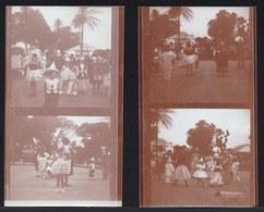 4 X VIEILLE  PHOTO Albumine CONGO VERS 1930 * CARNAVAL DES BLANCS AU CONGO * - Afrique