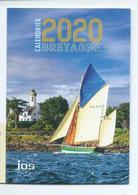 CALENDRIER DE POCHE 2 VOLETS ANNÉE 2020 ( RECTO/VERSO) BRETAGNE - Calendars