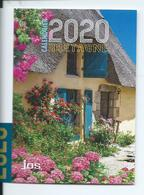 CALENDRIER DE POCHE 2 VOLETS ANNÉE 2020 ( RECTO/VERSO) BRETAGNE - Calendriers