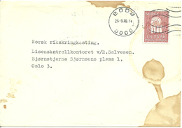 Norway 1970   Cover With Mi 611 FN 25 Years Anniversary, Cancelled Bodø 25.9.70 - Brieven En Documenten
