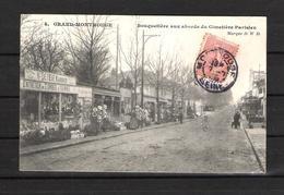 92 - GRAND MONTROUGE  -   4 - BOUQUETIÈRE AUX ABORDS DU CIMETIÈRE PARISIEN -  Marque D . W . D. - Montrouge