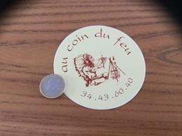 Autocollant, Sticker «au Coin Du Feu» (indien, Restaurant) - Aufkleber