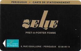 CARTE STATIONNEMENT BANDE MAGNÉTIQUE VILLE DE PÉRIGUEUX 24 DORDOGNE PRÊT A PORTER FEMME ZELIE - Francia