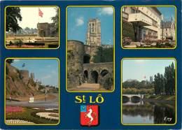 50 - Saint-Lo - Multivues - Blasons - Flamme Postale De Chateaubriant - Voir Scans Recto-Verso - Saint Lo