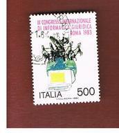 ITALIA REPUBBLICA  - SASS. 1643  -      1983  INFORMATCA GIURIDICA  -      USATO - 6. 1946-.. Repubblica