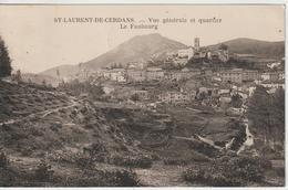 CPA Saint Laurent De Cerdans Vue Générale - Francia