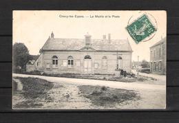 02 - COUCY LES EPPES  -   LA MAIRIE Et LA POSTE  . Edition Spéciale Des Etablissements GOULET TURPIN - Autres Communes