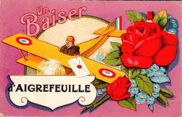 Carte 1920 Un BAISER D'AIGREFEUILLE - Otros Municipios