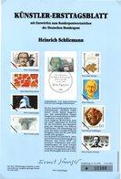 """(bFD)BRD Künstler-Ersttagsblatt (A4) K-ETB III/1990 Mi.1480 """"100.Todestag Von Heinrich Schlieman"""" ESSt 11.10.1990 BONN 1 - Sin Clasificación"""