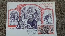 CPSM MONACO LE CID PIERRE DE CORNEILLE  P LAMBERT 1986 TIMBRE CARTE MAXIMUM TAMPON ED CEF - Monaco