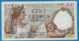 FRANCE  100 Francs  18.04.1940 ALPHA H.9499  ''Sully'' - 1871-1952 Antichi Franchi Circolanti Nel XX Secolo
