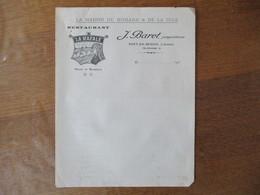 """PORT EN BESSIN J. BARET RESTAURANT """"LA RAFALE"""" LA MAISON DU HOMARD & DE LA SOLE FACTURE VIERGE - France"""