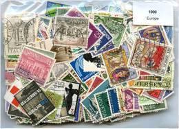 Lot 1000 Timbres Europe - Briefmarken