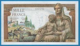 FRANCE  1000 Francs  05.11.1942 ALPHA E.1868 ''Déesse Déméter'' - 1871-1952 Anciens Francs Circulés Au XXème