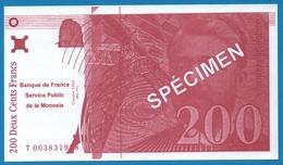 FRANCE  200 FRANCS L'AVENIR DE LA BANQUE DE FRANCE - Specimen
