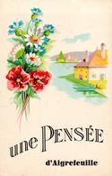 Carte 1940 UNE PENSEE D'AIGREFEUILLE - Otros Municipios
