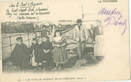 Avignon 1902; Le Vieux Pont D'Avignon, Ronde V - Voyagé. - Avignon (Palais & Pont)