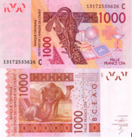 WEST AFRICAN STATES, BURKINA FASO, 1000 Francs, 2013, Code C, P315Cm, UNC - Burkina Faso
