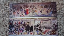 CPM FORGES LES EAUX 76 SALLE DU CONSEIL 4 TAPISSERIES VISITE DE GENERAL DE GAULLE 7 10 1966 ED CIM - Forges Les Eaux