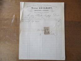 LILLE VICTOR GUILBAUT MARECHAL-FERRANT RUE BASSE FACTURE DU 9 JANVIER 1883 - Belgique