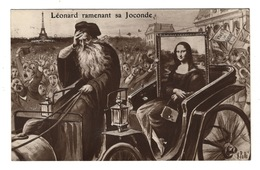 ILLUSTRATEURS Signés - Léonard Ramenant Sa Joconde Par V. Polli - Illustrators & Photographers