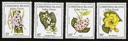 CHRISTMAS ISLAND 1986 - DOMESTIC FLORA Flowers - 4v Mi 220-223 MNH ** Cv€5,00 V863m - Christmaseiland