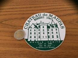 Autocollant, Sticker «CHATEAU De MAUPAS - MOROGUES (18)» - Aufkleber
