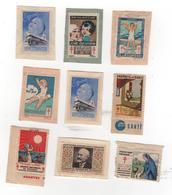 9 Vignettes CONTRE LA TUBERCULOSE (1 Double) - Certaines Sur Fragment - Voir Scan - Publicités