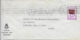 ESPAGNE   -  BARCELONA -   LETTRE POUR LA FRANCE  - 1968- - 1961-70 Briefe U. Dokumente