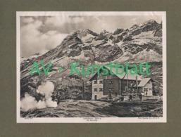 456 Zufallhütte Rifugio Nino Corsi Sektion Dresden Lichtdruck 1908 !! - Documents Historiques