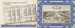 Calendrier Loterie Nationale 19 45 Tirage 23 Mai  1945 - Billets De Loterie