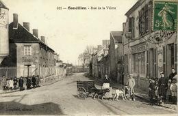 Sandillon Rue De La Vilette Attelage Chiens CP Bon état - Altri Comuni