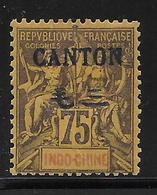 CHINE (CANTON) - YVERT N° 30 * MH (CHARNIERE FORTE) - COTE = 95 EUR. - Canton (1901-1922)