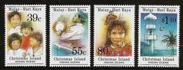 CHRISTMAS ISLAND 1989 - ISLAMIC Malay Hari-Raya-Holiday / Children - 4v 278-281 MNH ** Cv€5,50 V683u - Christmaseiland