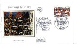 Lettre Premier Jour  / Centenaire Du 1er Mai  / Défilé / Paris / 1-5-1990 - 1990-1999