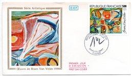Lettre Premier Jour  / Série Artistique / Oeuvre De Bram Van Velde / Paris / 25-4-1987 - 1980-1989