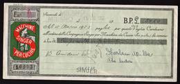 ITALIE: Billet Illustré à L'ordre De La Cie Singer, Machine à Coudre à Payer Au 15/03/1953............. - [ 2] 1946-… : République