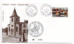 Lettre Premier Jour  / Salon Des Minéraux  / Seichamps  / Nancy  / 12-5-1990 - 1990-1999