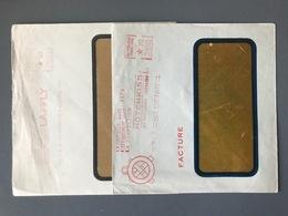 France - 2 Enveloppes Avec Oblitération EMA - (B3306) - Postmark Collection (Covers)