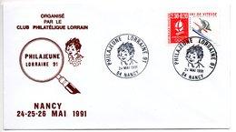Lettre Premier Jour  / Philajeune Lorraine 91  / Nancy  / 24-5-1991 - 1990-1999