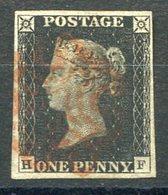 RC 15983 GRANDE BRETAGNE N° 1 BLACK PENNY VERY FINE USED - TB - 1840-1901 (Victoria)