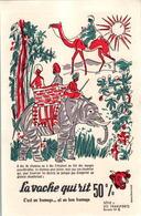 Buvard Série Transports N°6 Hervé Baille La Vache Qui Rit Chameau éléphant Camel En TB.Etat - Transports