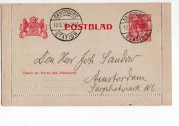 Santpoort Langebalk Station - Postblad - 1911 - Postal History
